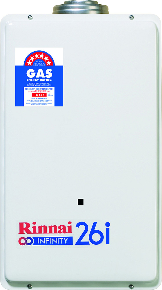 Rinnai Infinity 26L Internal Continuous Flow NG Preset 50 Degrees
